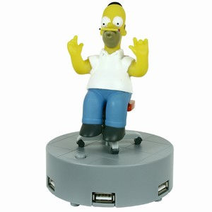 Homer Simpson Animated Four Port USB Hub