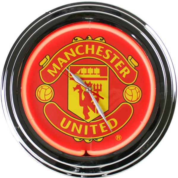Manchester United Neon Clock Drinkstuff