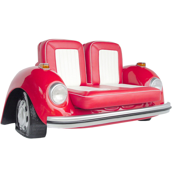 Vw beetle sofa red vw beetle seat novelty furniture for Sala novelty