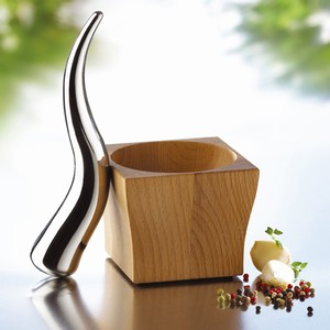 Viking Pestle And Mortar Gring Ground Grinder Kitchen Cooking Cook Cooks Accessories Accessory Metal Stainless Steel Wood House Home Style Sleek :  mortar pestle kitchenware accessories