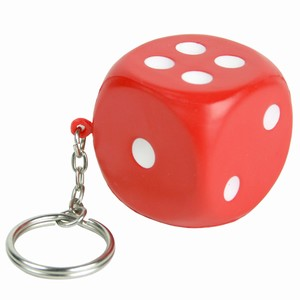 Squeezy Dice Key Ring