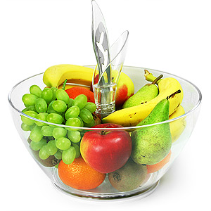 39Leafy39 Fruit Bowl With Knife amp Chopping Board
