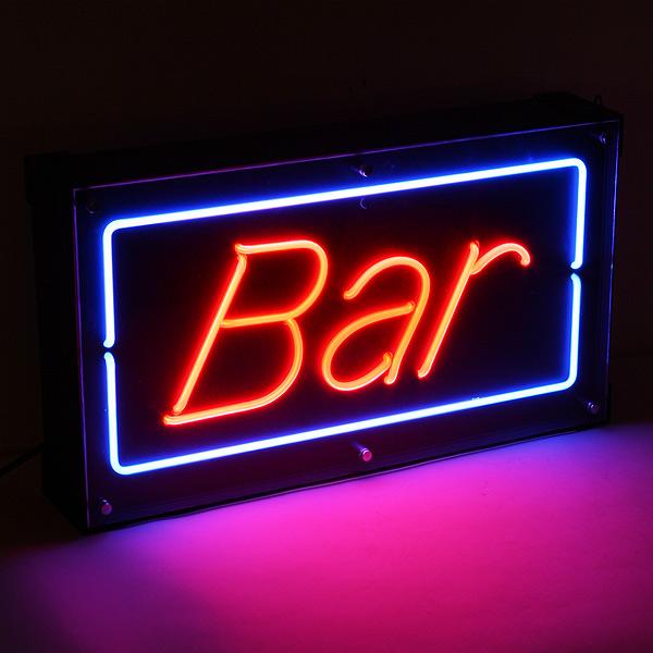 bar neon sign drinkstuff. Black Bedroom Furniture Sets. Home Design Ideas