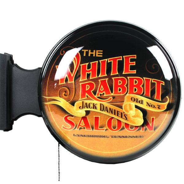 Jack Daniel\'s White Rabbit Saloon Pub Sign   Drinkstuff ®