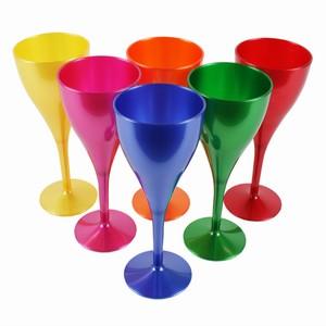 Rainbow Polycarbonate Wine Glasses 10 6oz 300ml