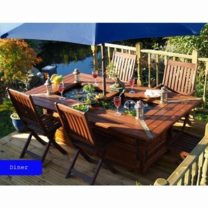Pondable Garden Table