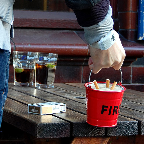 Fire Bucket Ashtray Drinkstuff