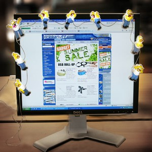 Homer Simpson USB Monitor Lights