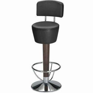 Pienza Commercial Swivel Bar Stool (Ebony Black Single)