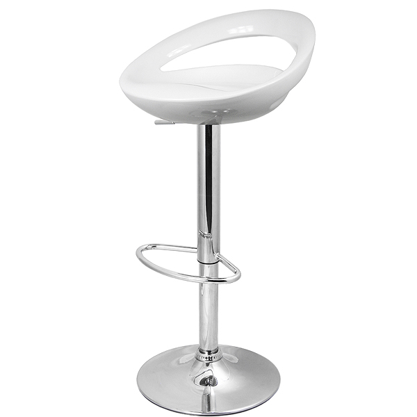 Crescent Bar Stool White Bar Furniture Kitchen Bar