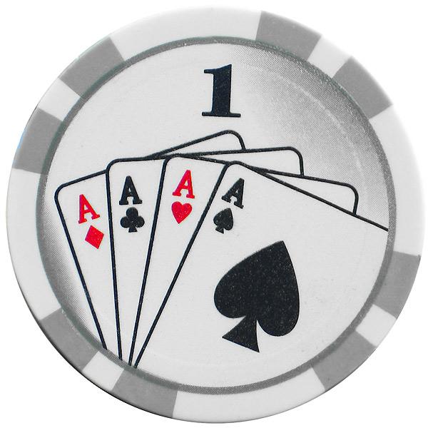 Royal flush poker chips set