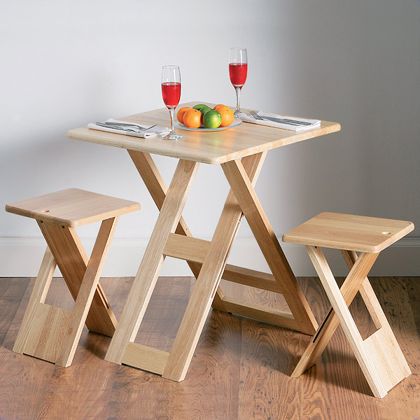 Flexible folding table and chairs #1161 - green way parc.