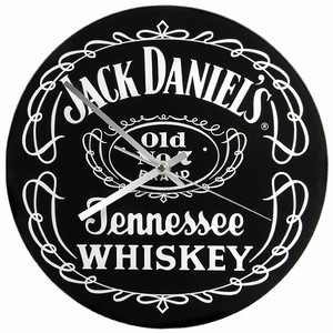Jack Daniel's Black Label Glass Clock