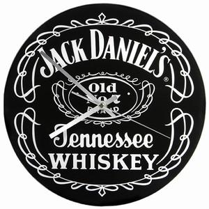 Jack Daniel's Black Label Glass Clock