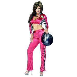 Chequered Racing Girl Costume