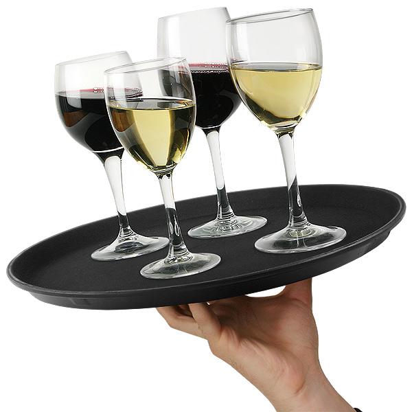 b7f469641b7d 14 Inch Non Slip Round Waiters Tray at drinkstuff