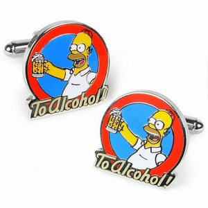 Homer Simpson To Alcohol Cufflinks