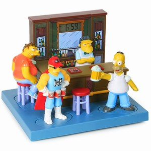 The Simpsons Talking Bar Buddies Alarm Clock