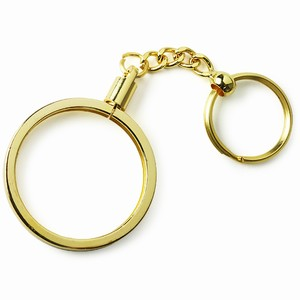 Poker Chip Keyring Gold