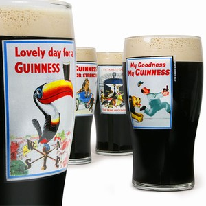 Guinness Heritage Pint Glasses