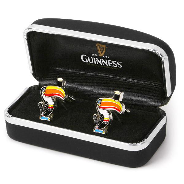 Guinness Toucan Mascot Tattoo: Guinness Toucan Cufflinks