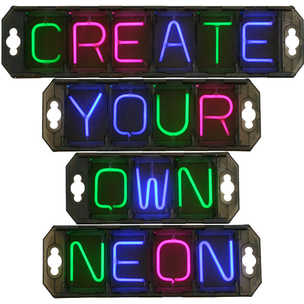 Light Up Kitchen Signs: Neo-Link Create Your Own Neon