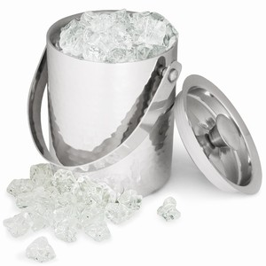 Hammered Effect Ice Bucket