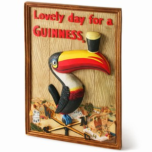 Guinness 3D Toucan Wall Plaque