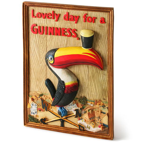 Guinness Toucan Mascot Tattoo: Guinness 3D Toucan Wall Plaque