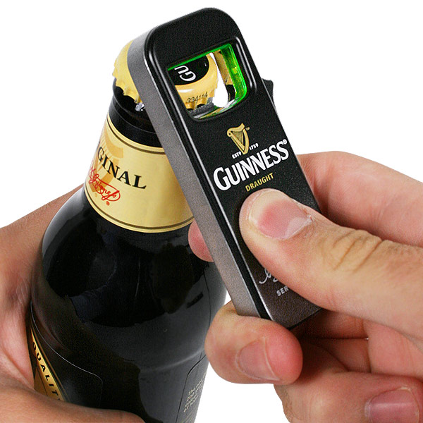 guinness lighter with bottle opener drinkstuff. Black Bedroom Furniture Sets. Home Design Ideas