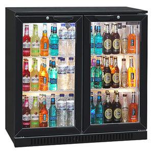 Blizzard BAR-2 Bottle Cooler Black (Hinged Doors)
