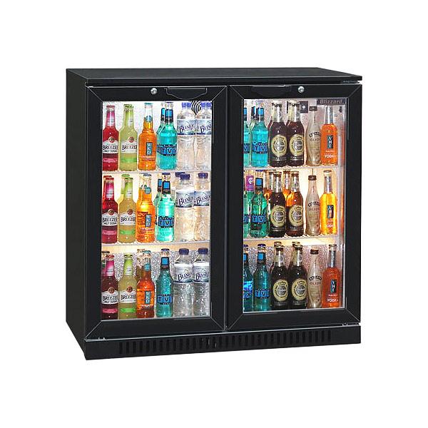 Blizzard Bar 2 Bottle Cooler Black Drinks Fridge Bar