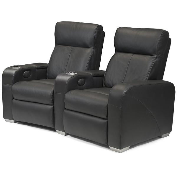 Premiere Home Cinema Seating 2 Seater Black Cinema