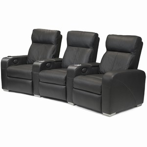 Premiere Home Cinema Seating - 3 Seater Black
