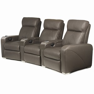 Premiere Home Cinema Seating - 3 Seater Brown