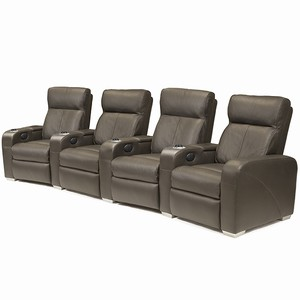 Premiere Home Cinema Seating - 4 Seater Brown