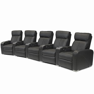 Premiere Home Cinema Seating - 5 Seater Black