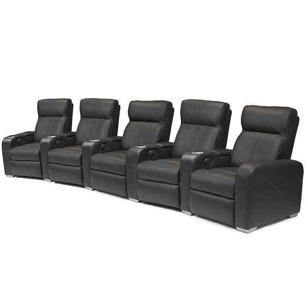 Premiere Home Cinema Seating 5 Seater Black Cinema