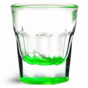 Casablanca Green Neon Shot Glass 1.2oz / 35ml