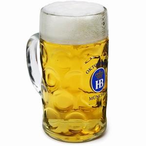 Hofbrauhaus Oktoberfest Stein Glass 35oz / 1ltr
