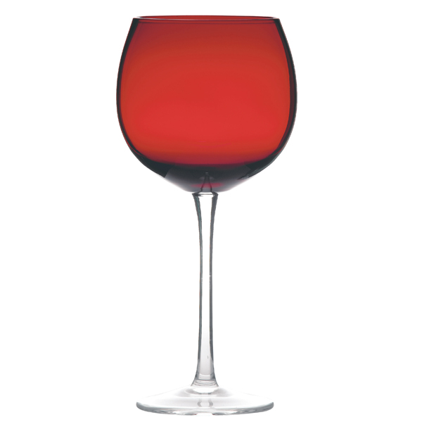 Ruby red balloon wine glasses drinkstuff for Large red wine glass