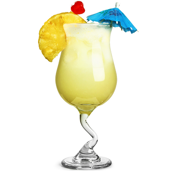 Stem Pina Colada Glasses 13.4oz / 380ml | Poco Grande Glasses ...