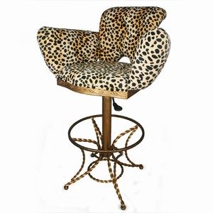 Leopard Print Bar Stool