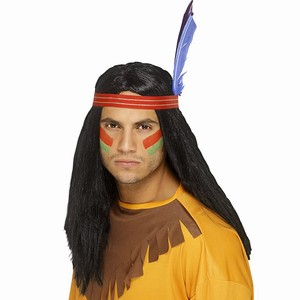 Indian Brave Wig With Feather