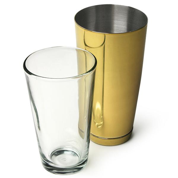 Professional Boston Cocktail Shaker Gold | Drinkstuff