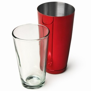 Professional Boston Cocktail Shaker Red