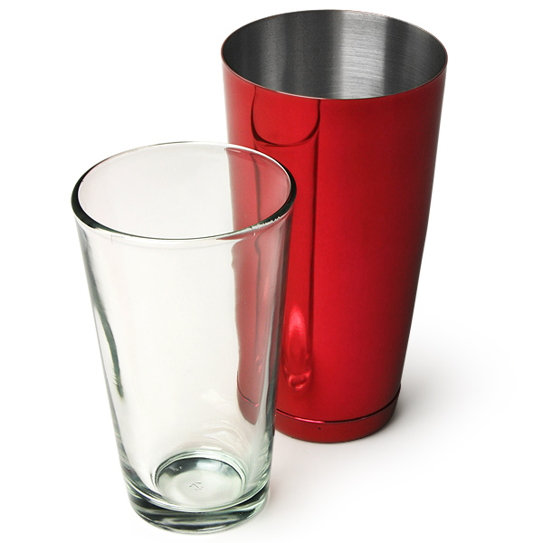 professional boston cocktail shaker red boston shaker boston bar shaker buy at drinkstuff. Black Bedroom Furniture Sets. Home Design Ideas