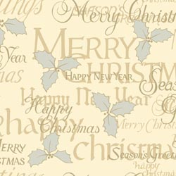 Christmas Greetings Cream Napkins 33cm