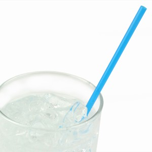 Collins Straws Blue