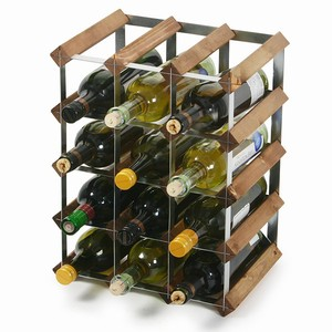 Traditional Wooden Wine Racks - Dark Oak